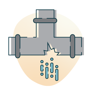 burst pipes icon