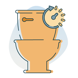 running toilet icon