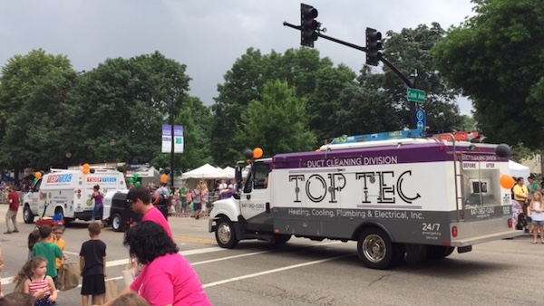 TopTec in a parade