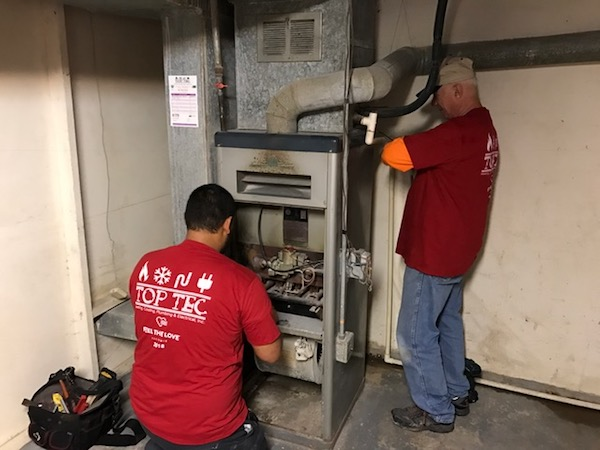 REMOVAL OF THE OLD FURNACE