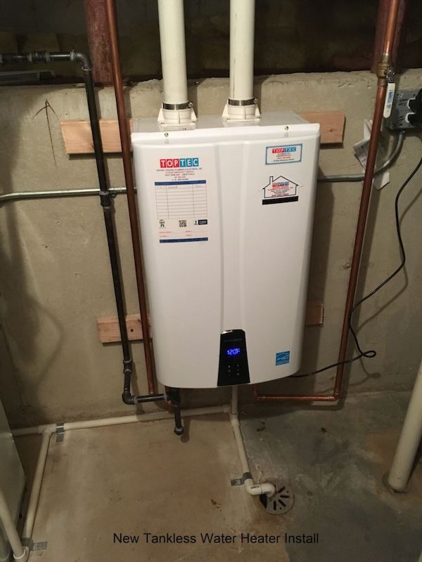 New tankless water heater install